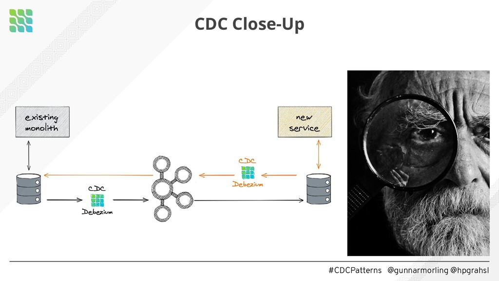#CDCPatterns @gunnarmorling @hpgrahsl CDC Close...