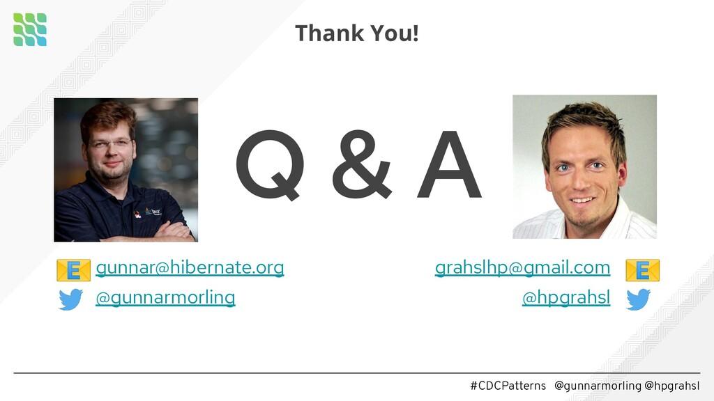 #CDCPatterns @gunnarmorling @hpgrahsl Q & A gun...