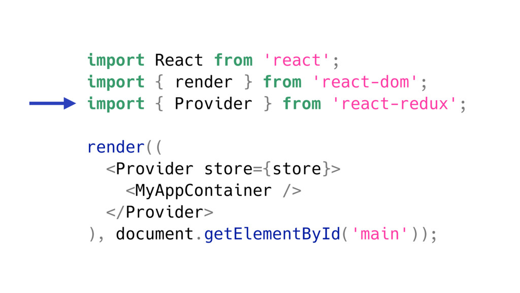 import React from 'react'; import { render } fr...