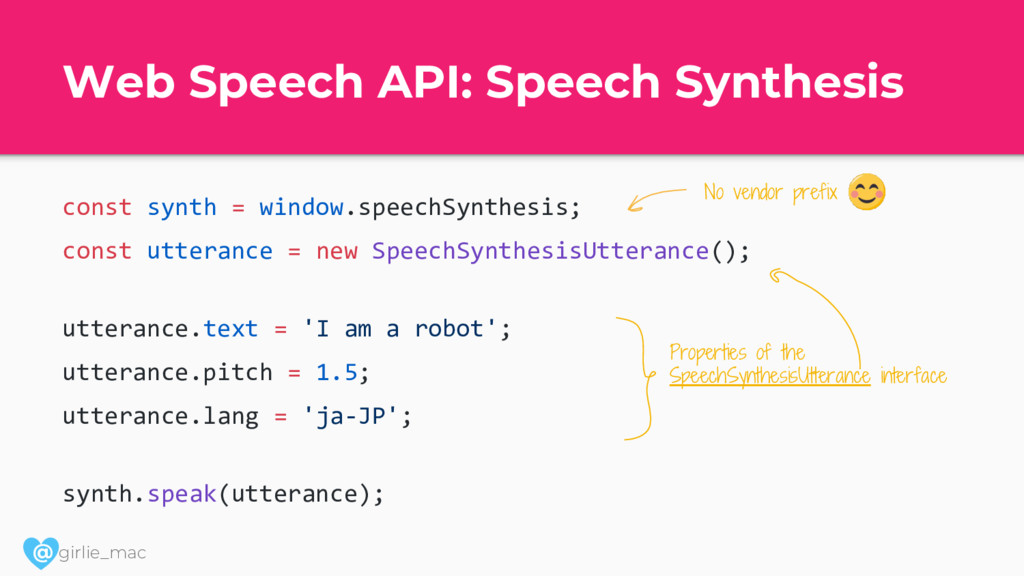 @ girlie_mac Web Speech API: Speech Synthesis c...
