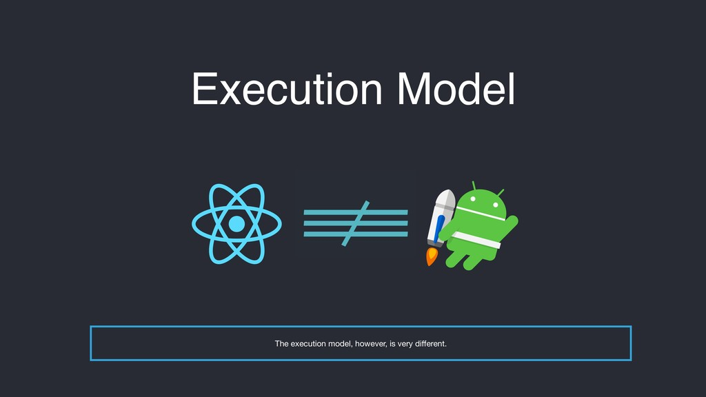 Execution Model !==$$ The execution model, howe...