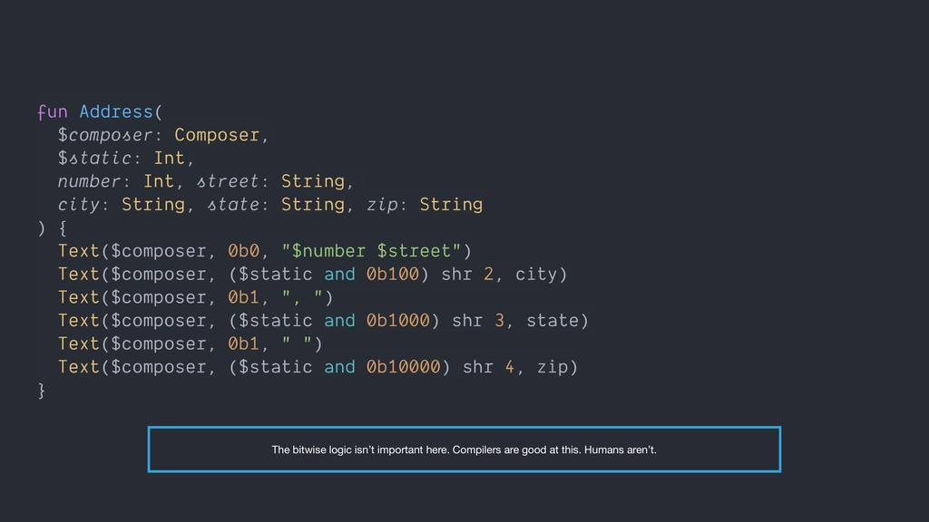 fun Address( $composer: Composer, $static: Int,...