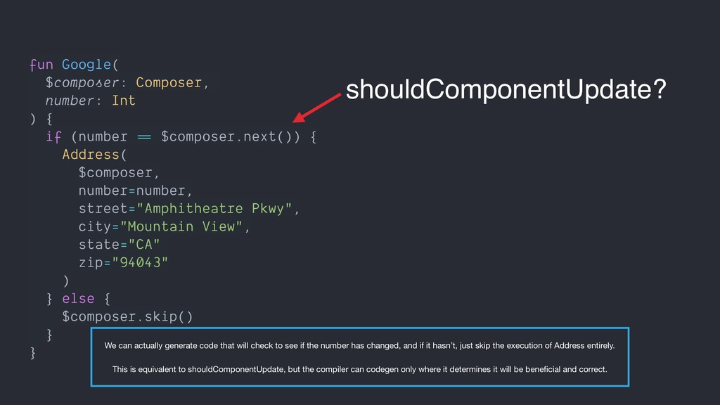 fun Google( $composer: Composer, number: Int ) ...