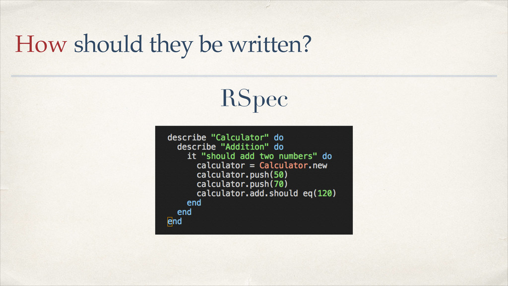 RSpec How should they be written?