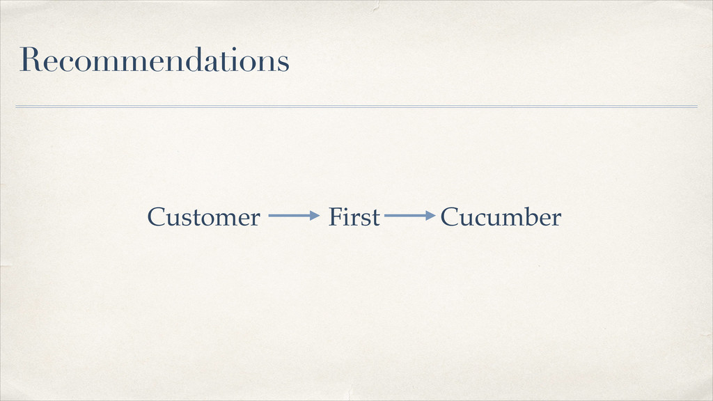Recommendations Customer First Cucumber