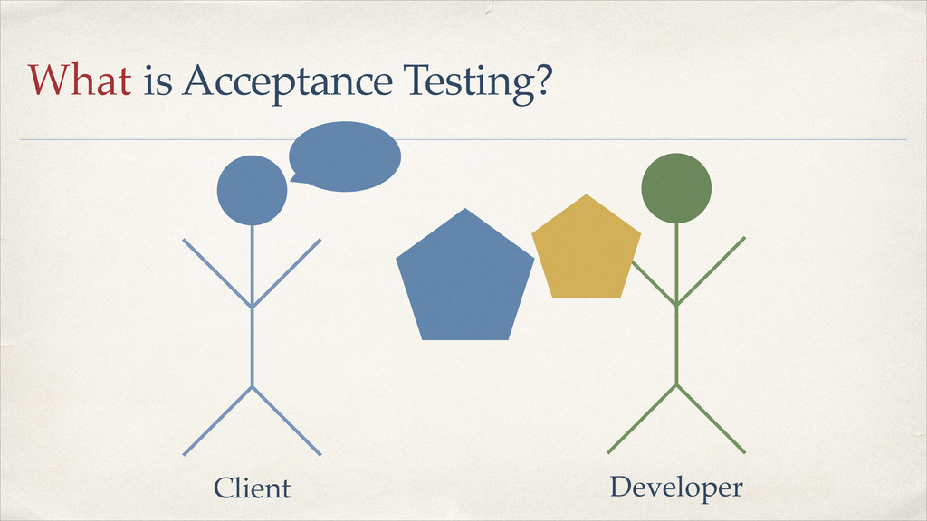 What is Acceptance Testing? Client Developer