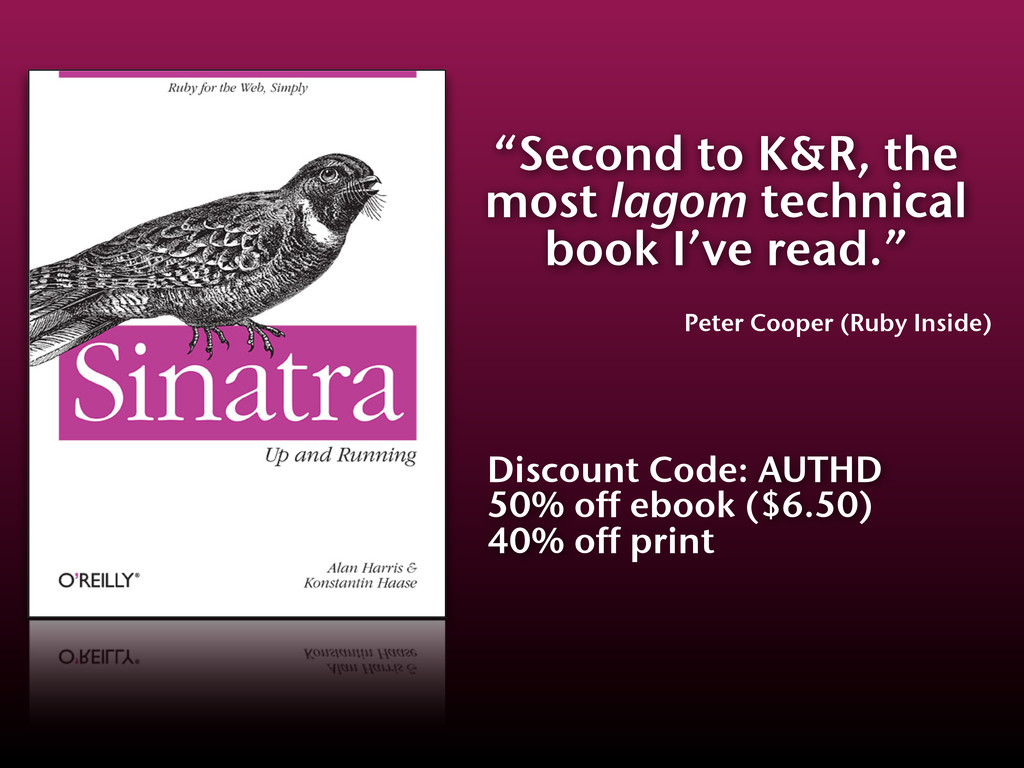 """""""Second to K&R, the most lagom technical book I..."""