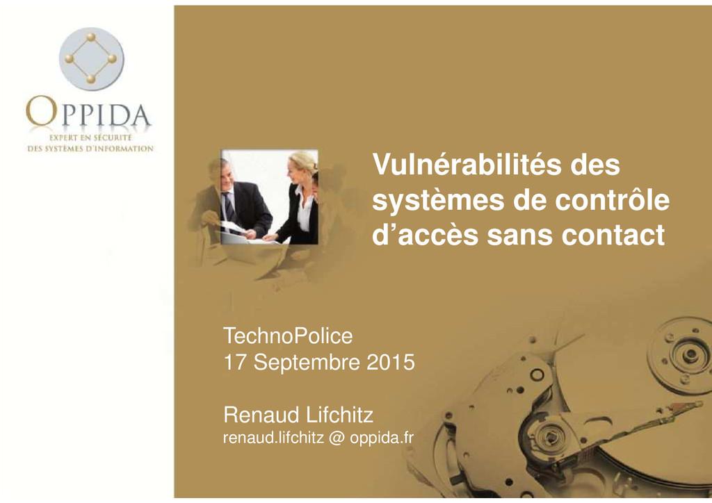 Vulnérabilités des systèmes de contrôle d'accès...