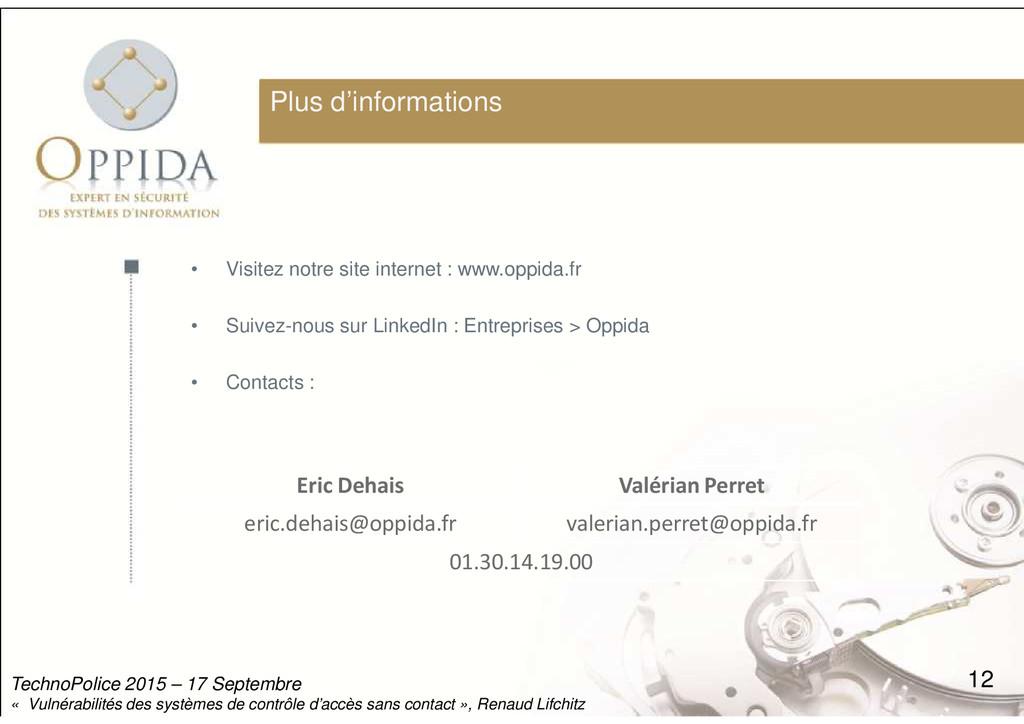 Plus d'informations • Visitez notre site intern...