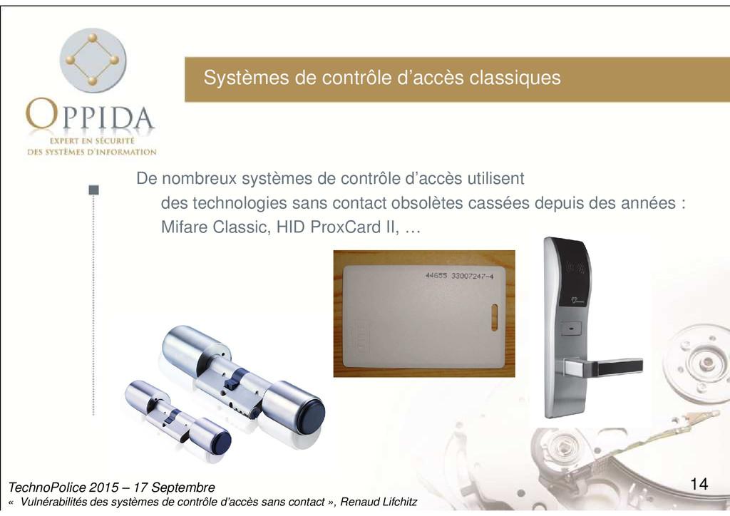 Systèmes de contrôle d'accès classiques De nomb...