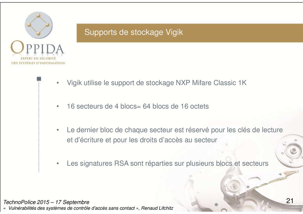Supports de stockage Vigik • Vigik utilise le s...