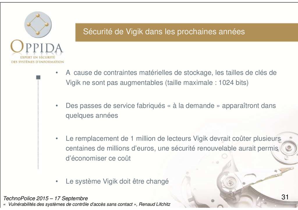 Sécurité de Vigik dans les prochaines années • ...