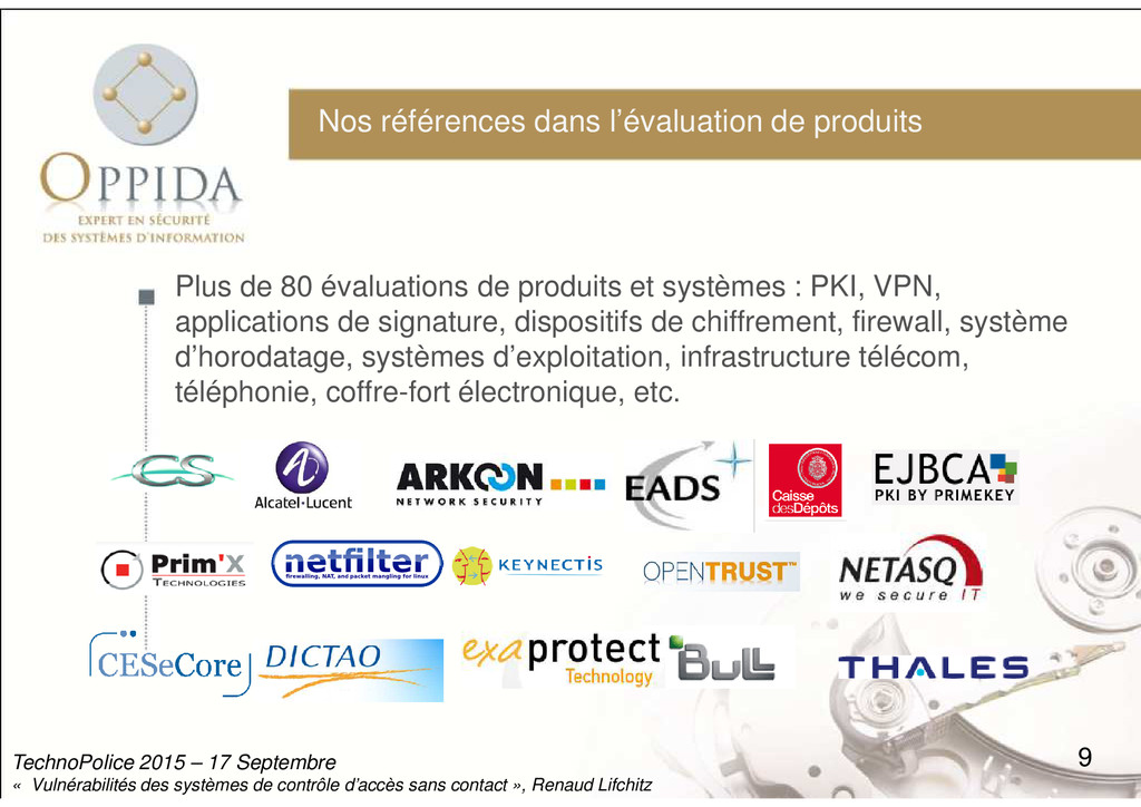 Plus de 80 évaluations de produits et systèmes ...