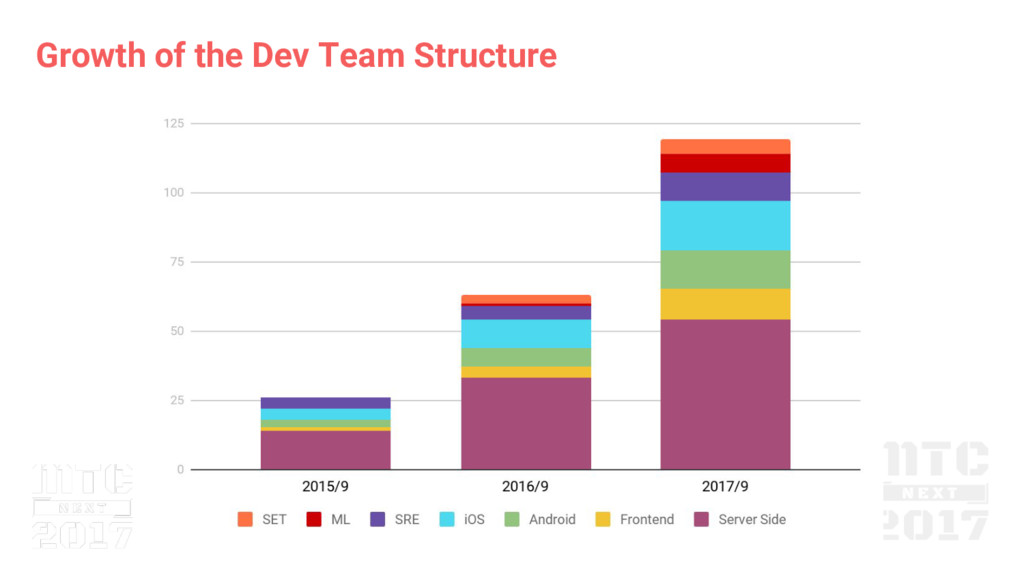 Growth of the Dev Team Structure
