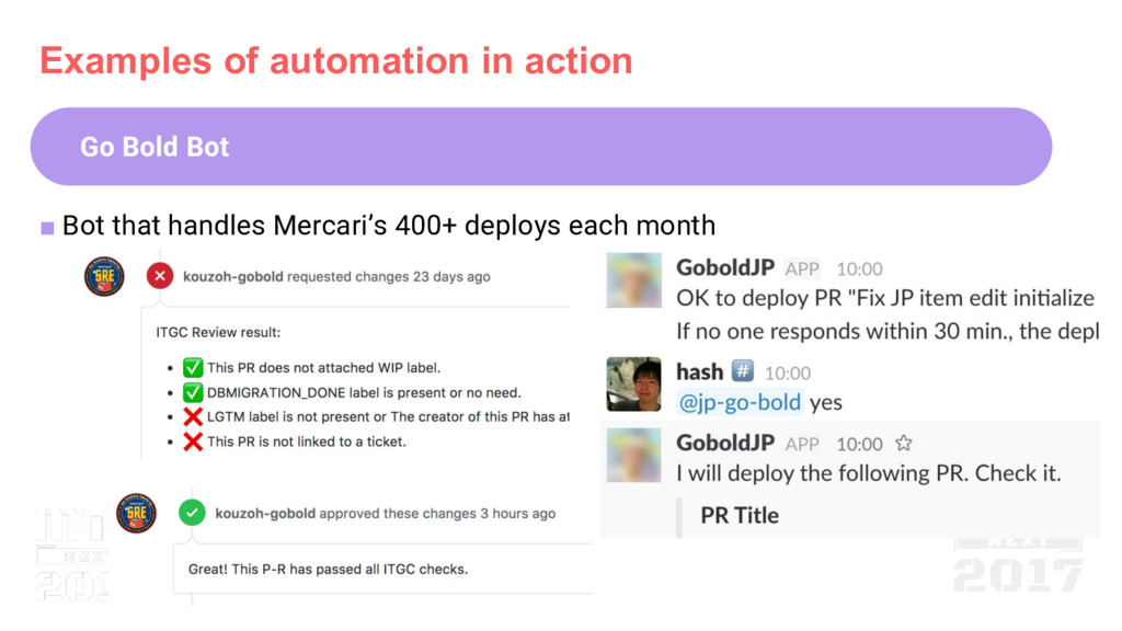 Examples of automation in action Go Bold Bot ■ ...