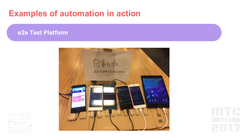 Examples of automation in action e2e Test Platf...