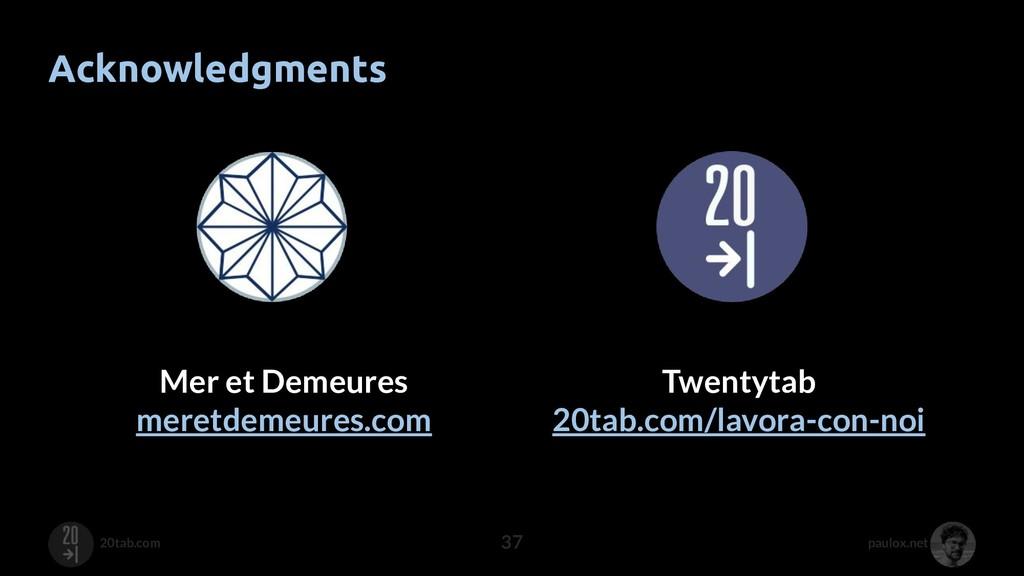 paulox.net 20tab.com Acknowledgments 37 Mer et ...