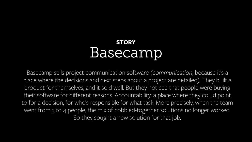 Basecamp STORY Basecamp sells project communica...