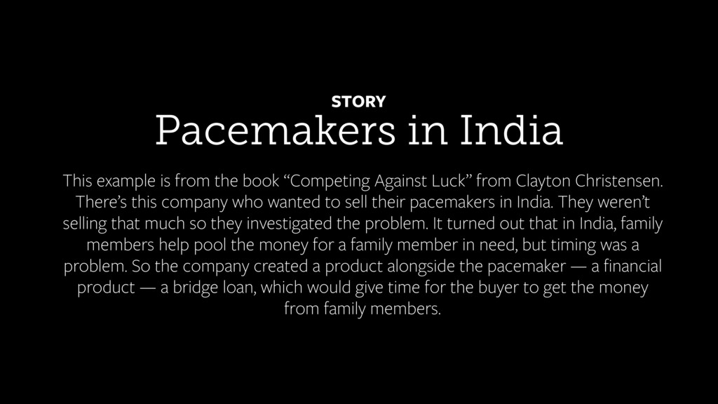 Pacemakers in India STORY This example is from ...