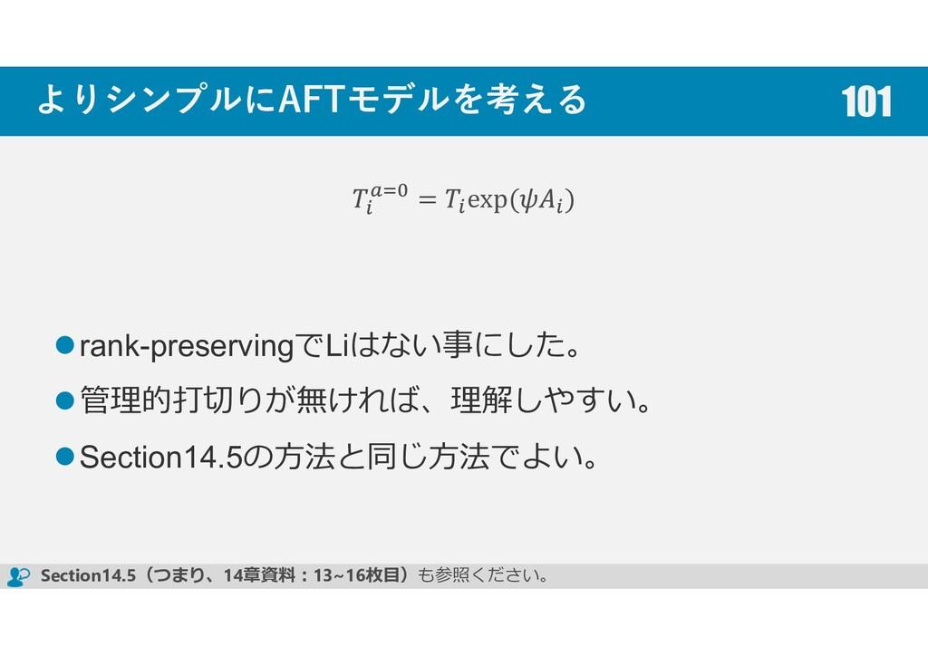 よりシンプルにAFTモデルを考える rank-preservingでLiはない事にした。 管理...