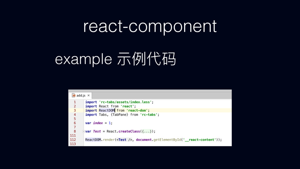 react-component example ᐏֺդᎱ