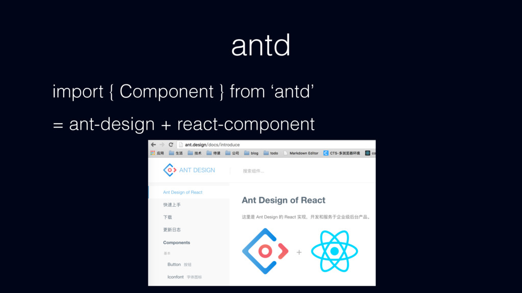 antd import { Component } from 'antd' = ant-des...