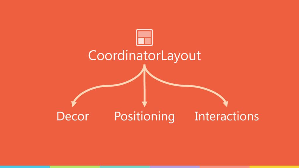 CoordinatorLayout Interactions Decor Positioning