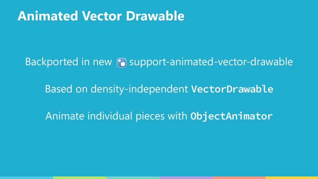 Animated Vector Drawable Backported in new supp...