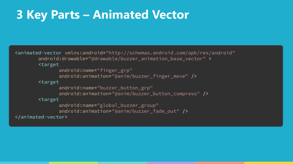 3 Key Parts – Animated Vector <animated-vector ...