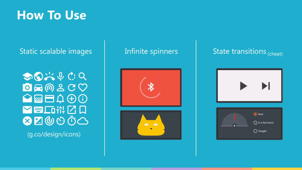 How To Use Static scalable images Infinite spin...