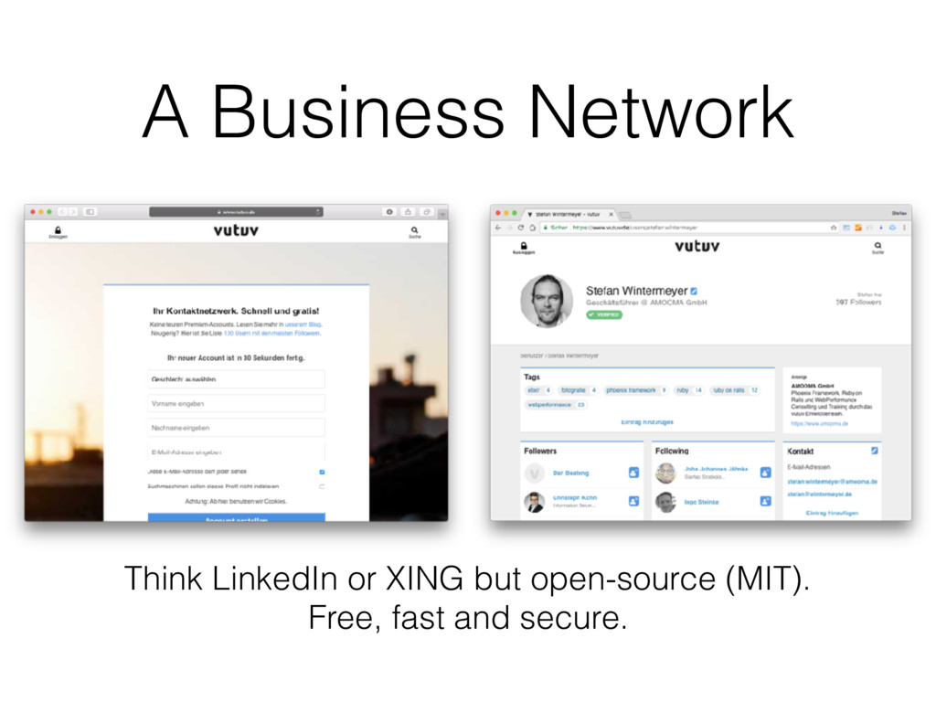A Business Network Think LinkedIn or XING but o...