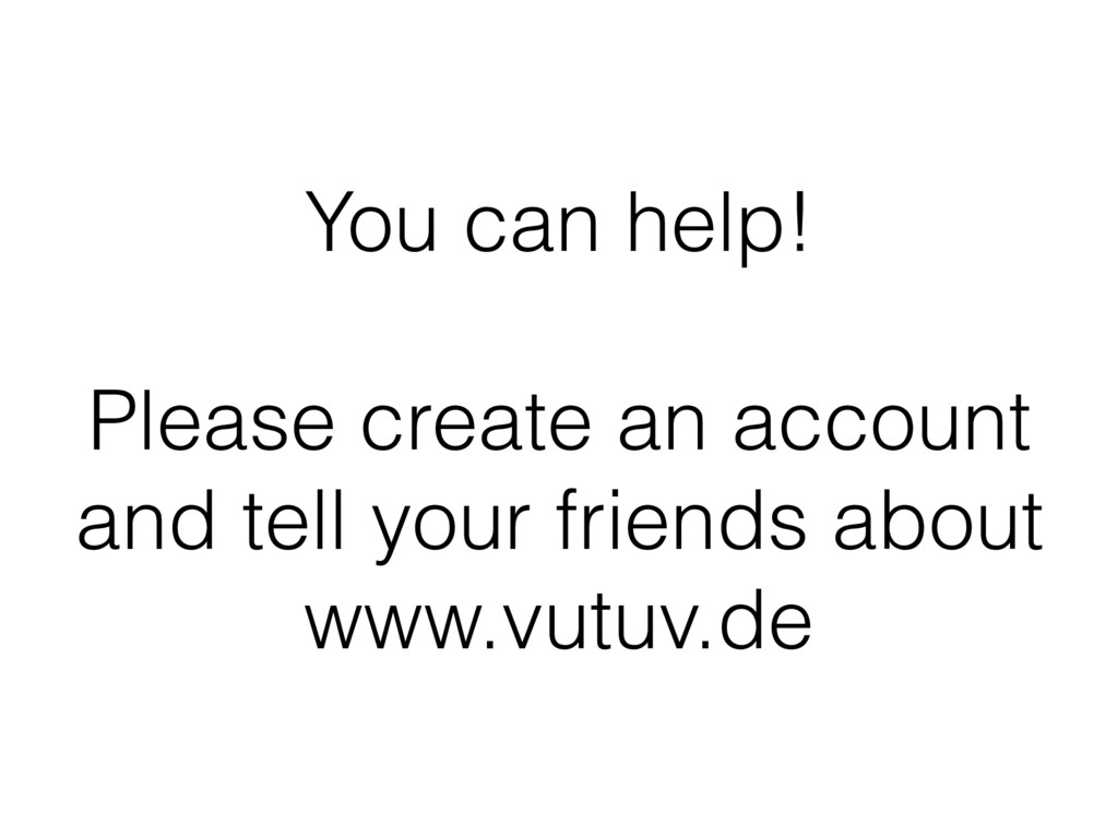 You can help! Please create an account and tell...