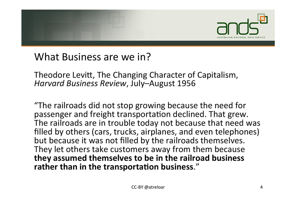 What#Business#are#we#in?# Theodore#LeviJ,#The#C...