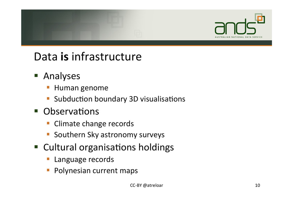Data#is#infrastructure# !  Analyses# !  Human#g...