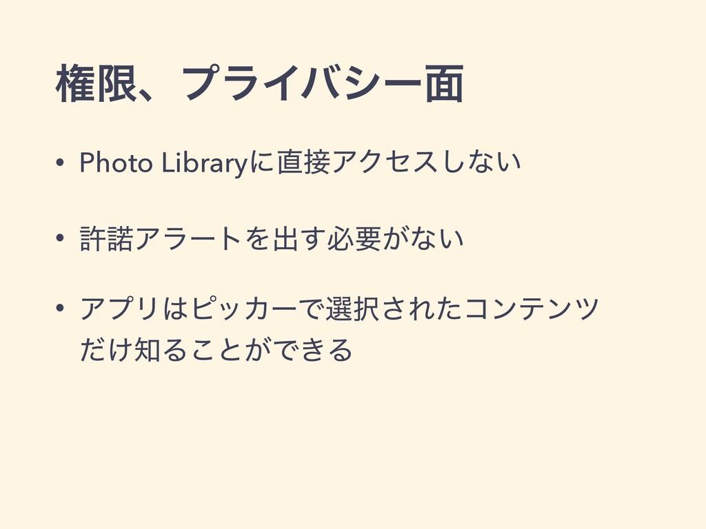 ݖݶɺϓϥΠόγʔ໘ • Photo LibraryʹΞΫηε͠ͳ͍ • ڐΞϥʔτΛग़...