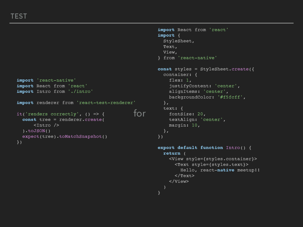 TEST import 'react-native' import React from 'r...