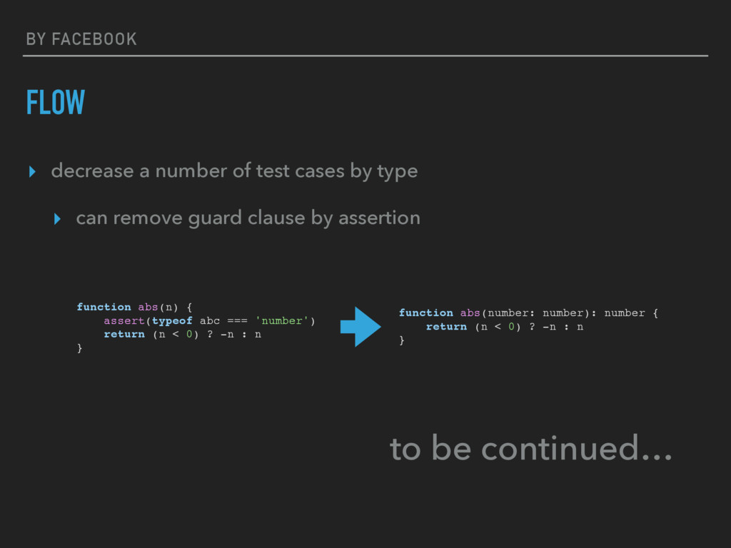 BY FACEBOOK FLOW ▸ decrease a number of test ca...