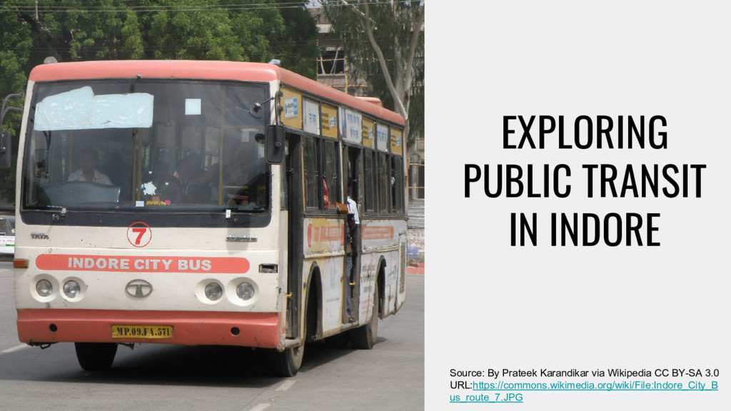 EXPLORING PUBLIC TRANSIT IN INDORE Source: By P...