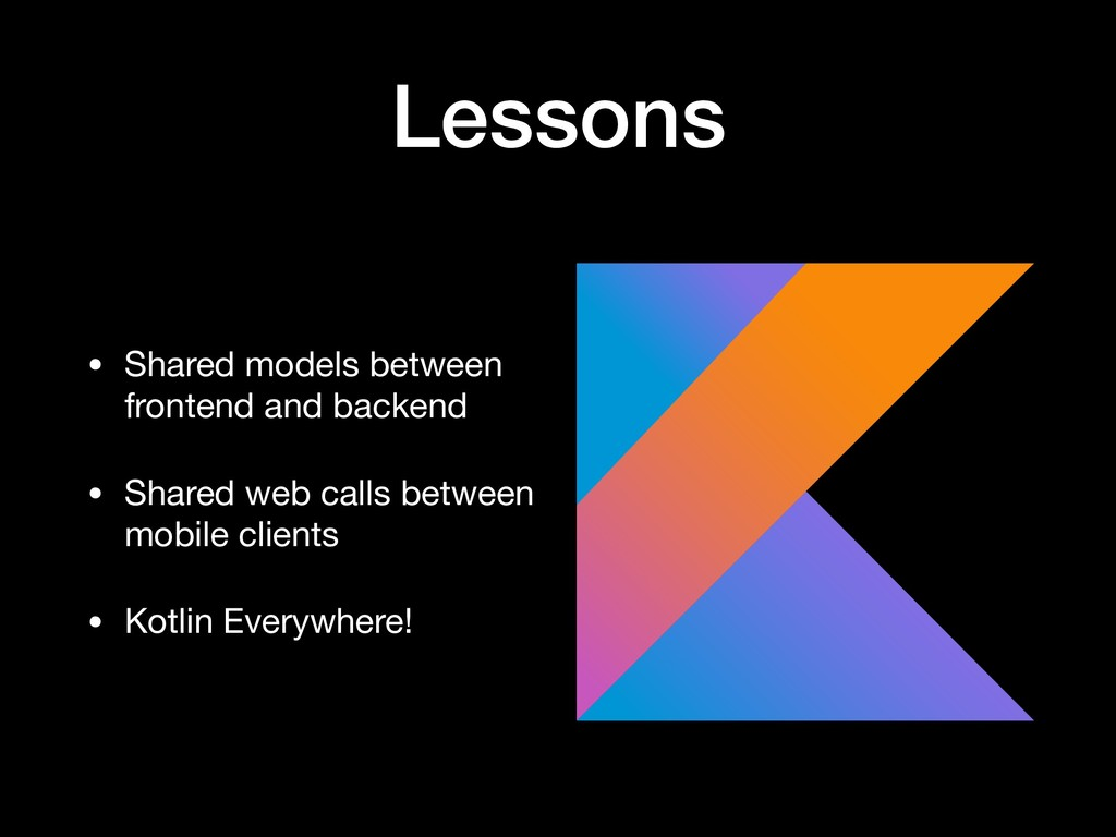 Lessons • Shared models between frontend and ba...