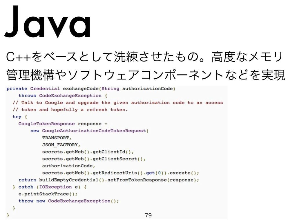 Java $Λϕʔεͱͯ͠ચ࿅ͤͨ͞ͷɻߴͳϝϞϦ ཧػߏιϑτΣΞίϯϙʔωϯ...