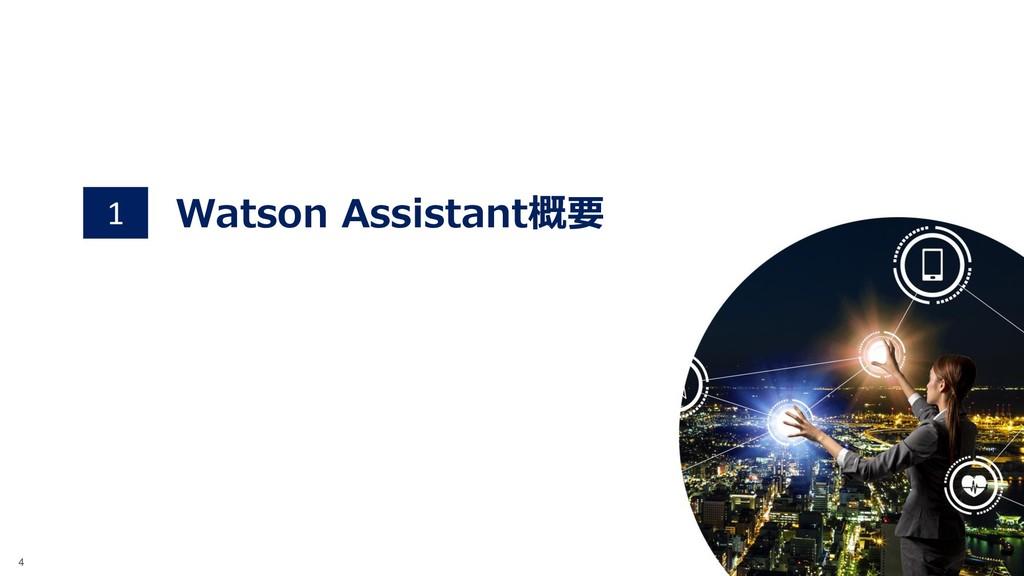 ©2018 IBM Corporation 4 Watson Assistant概要 1