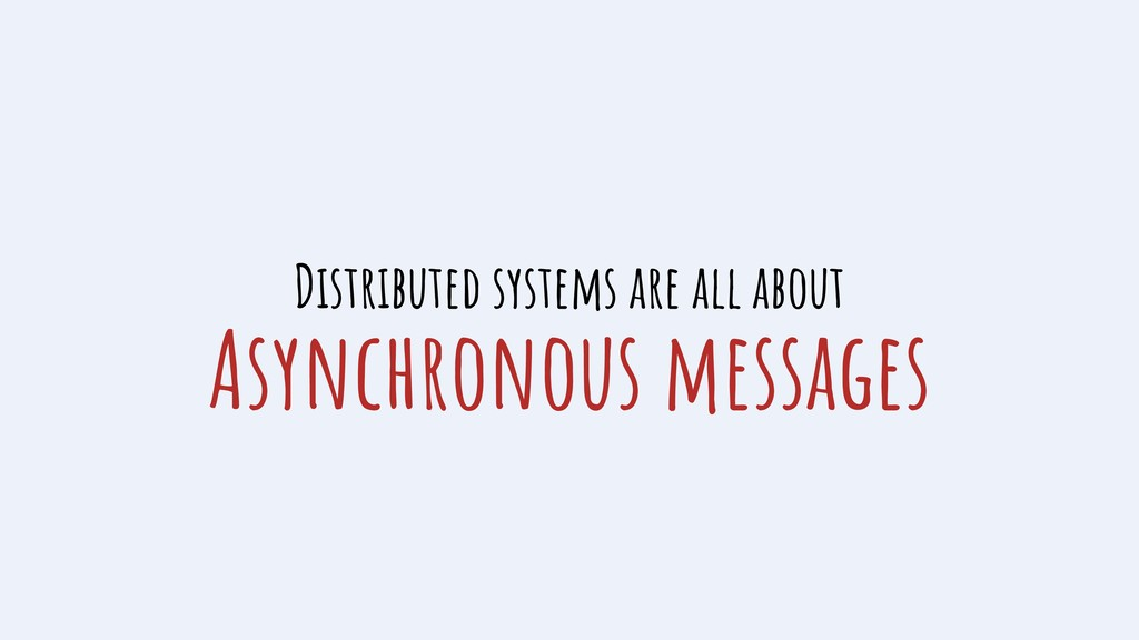 Asynchronous messages Distributed systems are a...