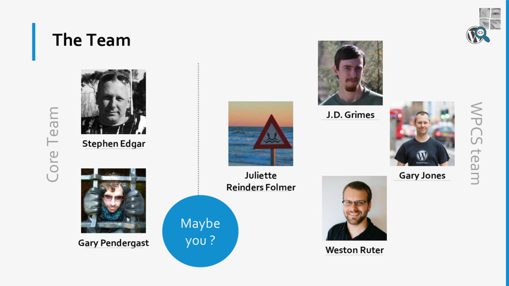 The Team Stephen Edgar Gary Pendergast Juliette...