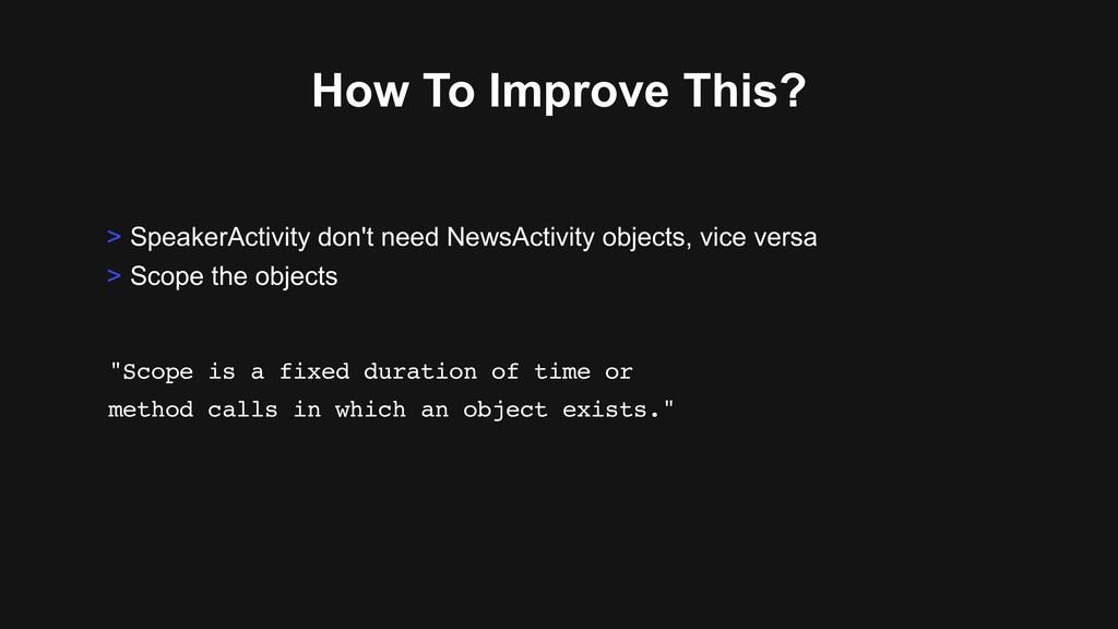 How To Improve This? > SpeakerActivity don't ne...
