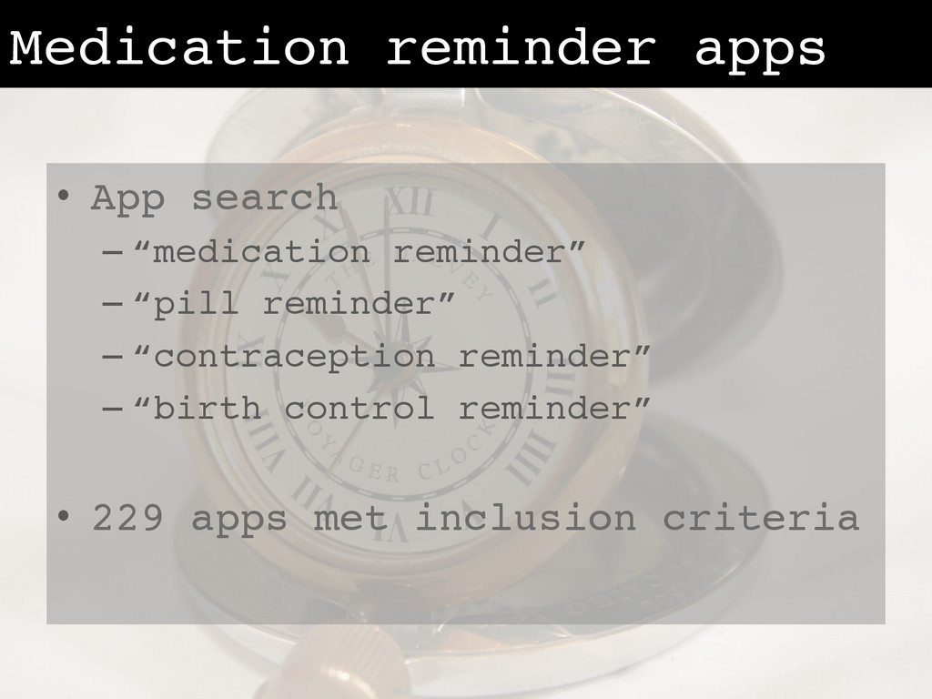 "Medication reminder apps! •  App search! – ""med..."