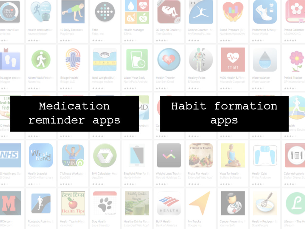 Medication reminder apps! Habit formation apps!