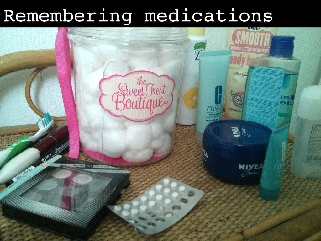 Remembering medications!