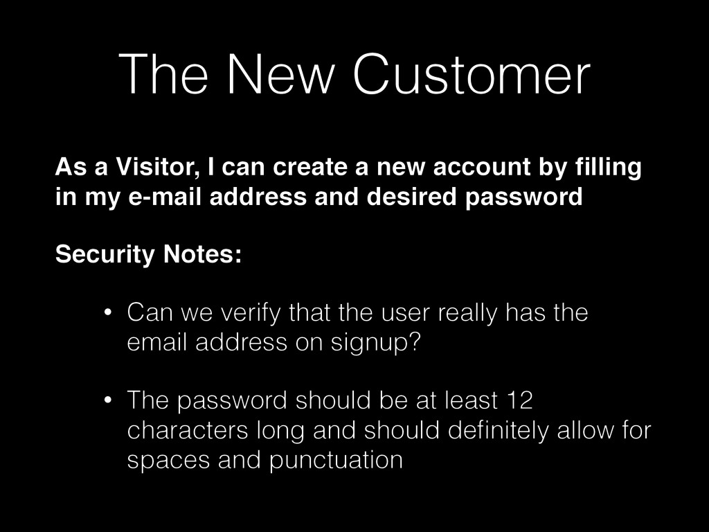 The New Customer As a Visitor, I can create a n...