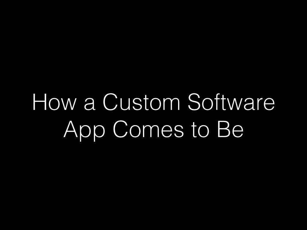 How a Custom Software App Comes to Be