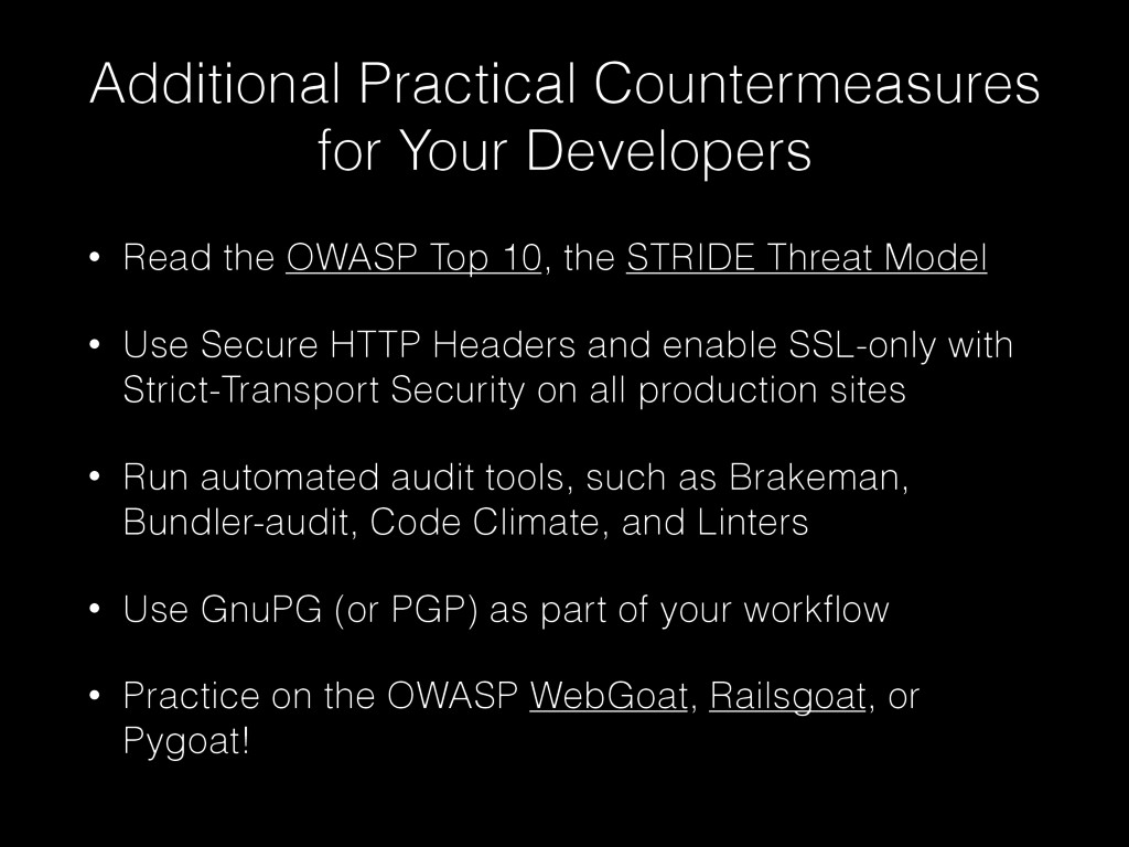 Additional Practical Countermeasures for Your D...